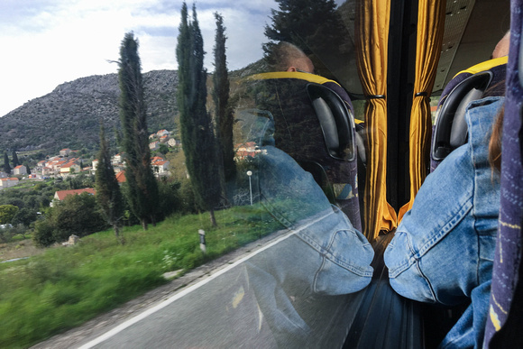 View from the bus, leaving Dubrovnik
