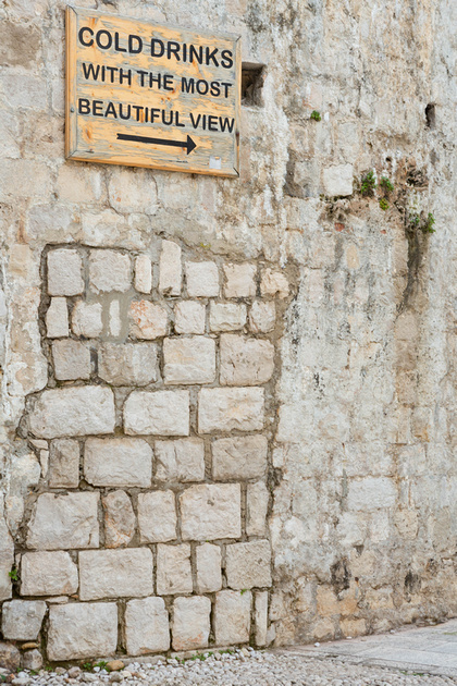Signpost to Cafe Buza, Dubrovnik