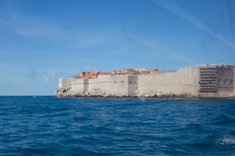 Dubrovnik City Walls from the Lokrum ferry.