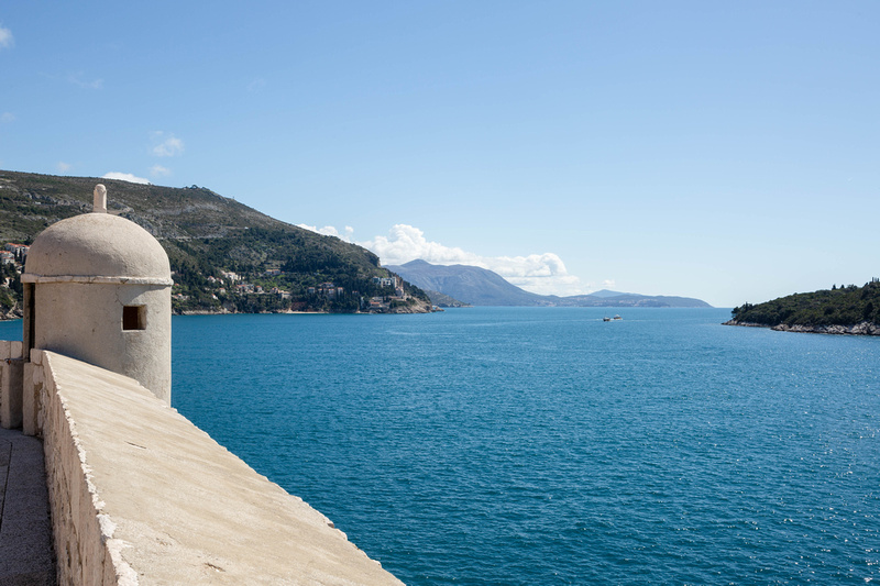 View from the City Walls, Dubrovnik Old Town, Croatia