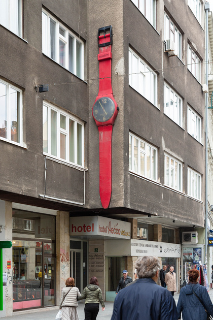 A giant Swatch Watch