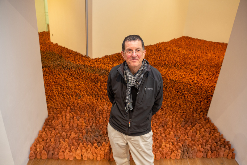 Antony Gormley, Field for the British Isles (1993). Exhibition at Firstsite, Colchester, 2019.