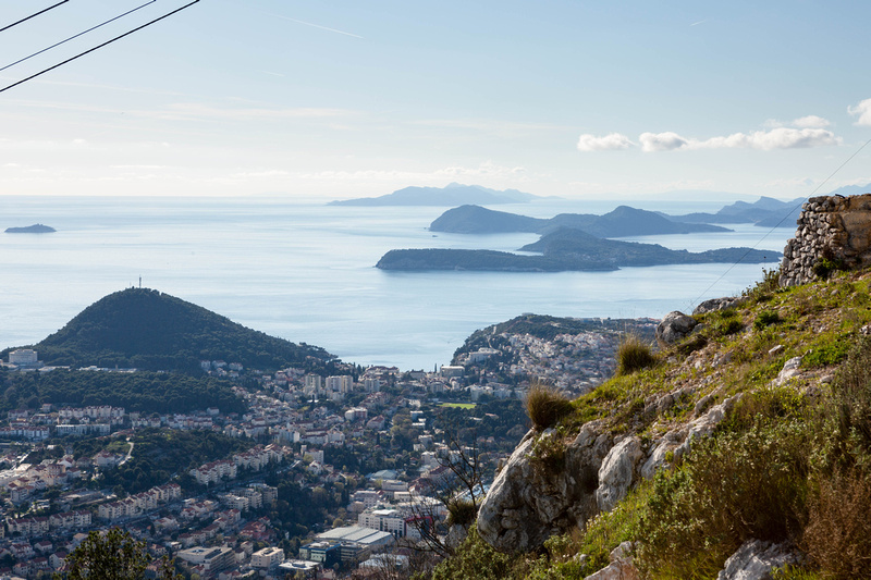 View from Srd Hill, reached by the Dubrovnik Cable Car