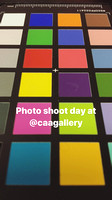 Colour checker - 'photo shoot day at @caagallery'