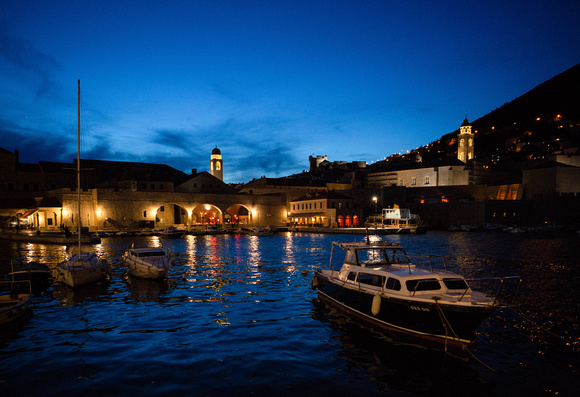 The Old Port at night